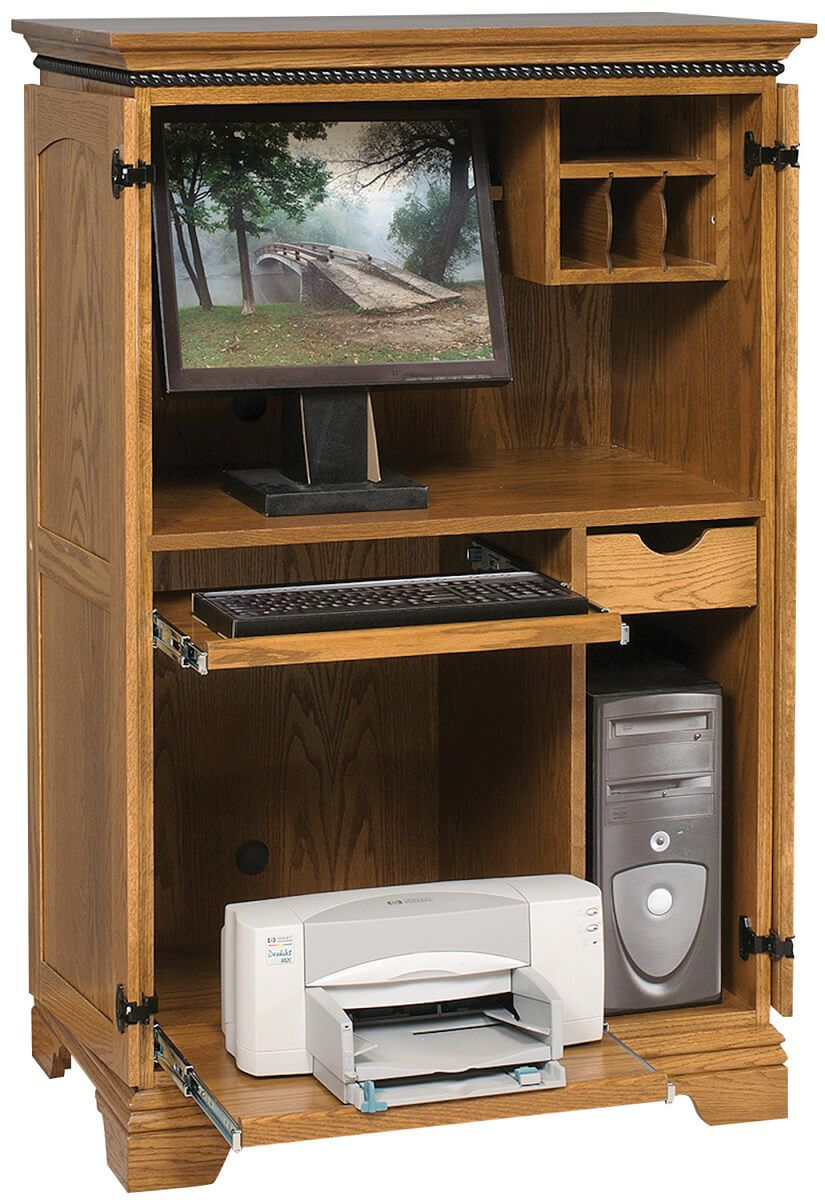 Mount Kisco Office Computer Armoire Countryside Amish Furniture