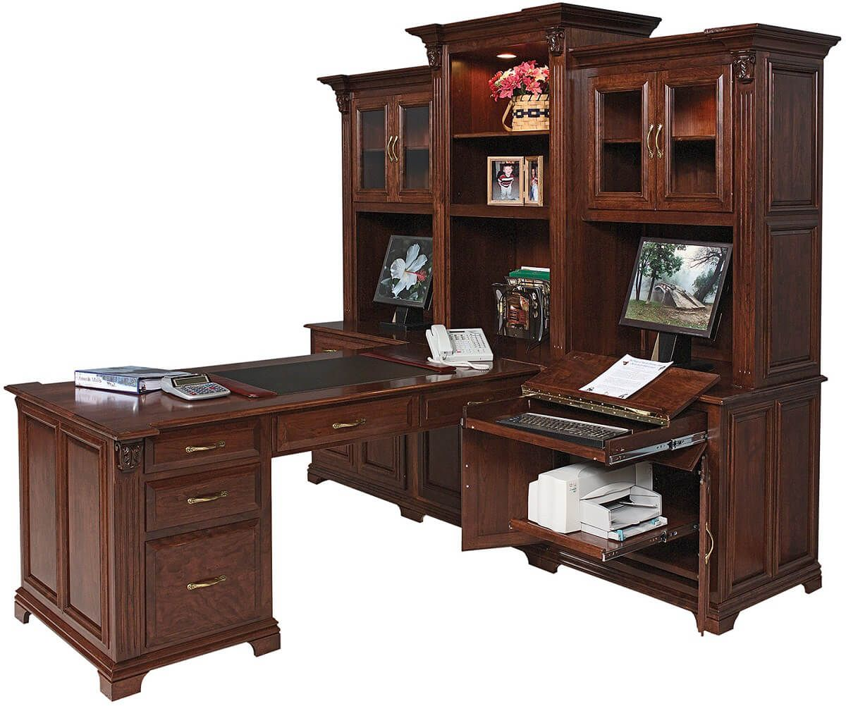 Cherry Peninsula Desk