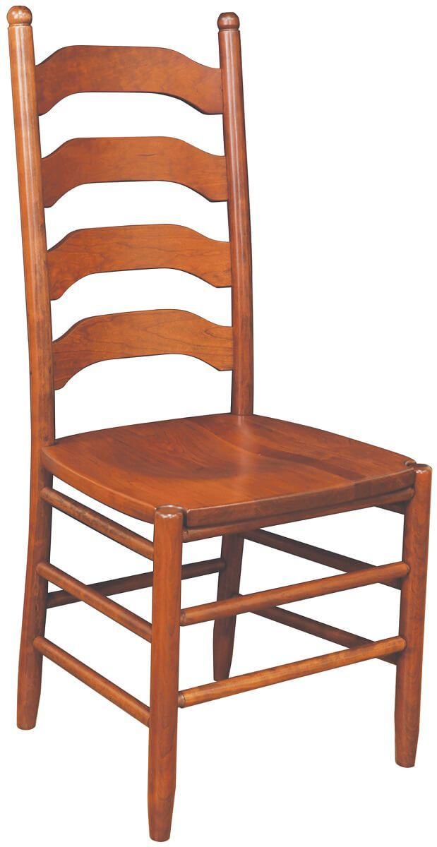 taste of colonial life, the Amish Colonist ladder back dining chair ...