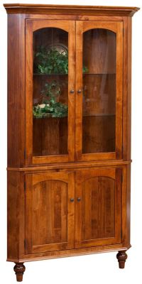 Taunton Corner Hutch With Storage Countryside Amish