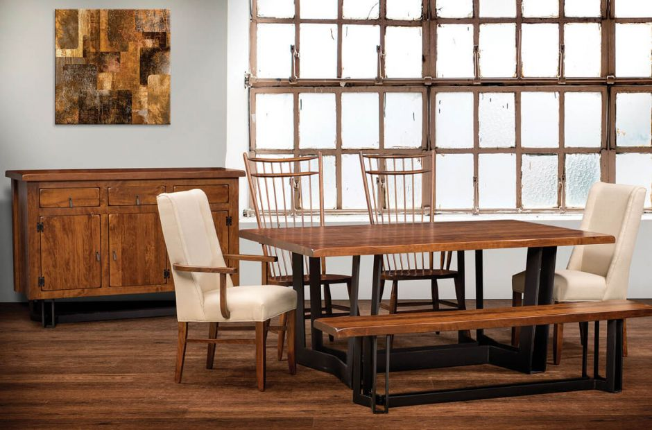 Bessemer Industrial Dining Room Set - Countryside Amish Furniture