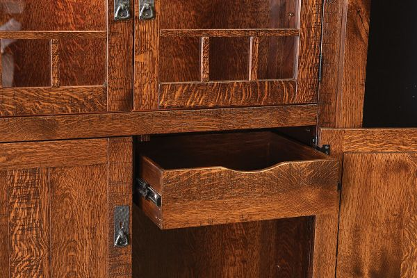 Drawer Behind Each Lower Cabinet