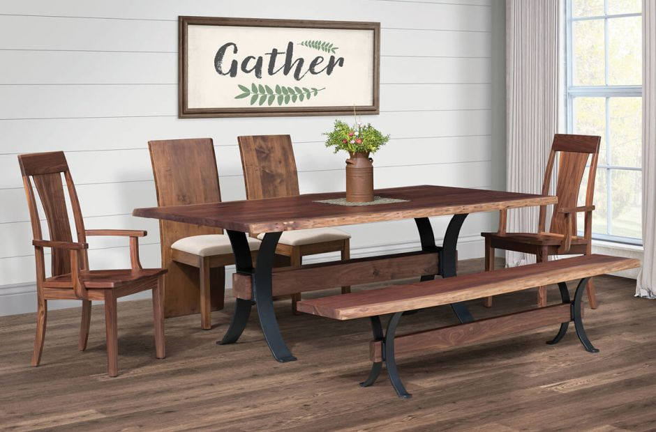 Bessemer Industrial Dining Room Set - Countryside Amish ...