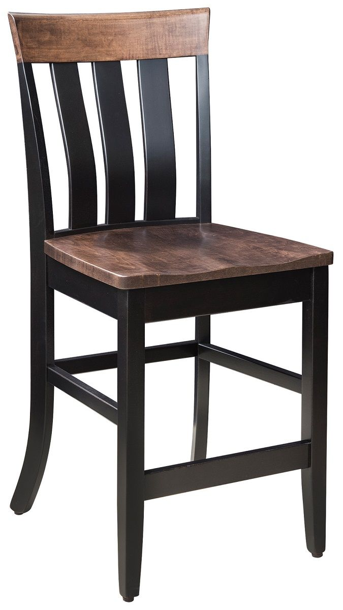 Two Toned Wood Pub Chair