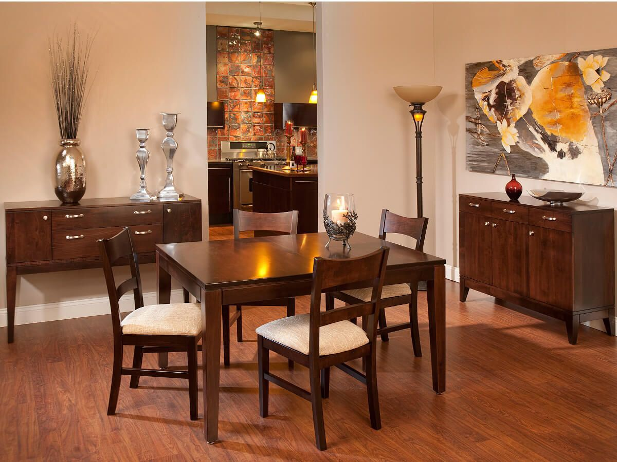 Brown Maple modern dining room furniture