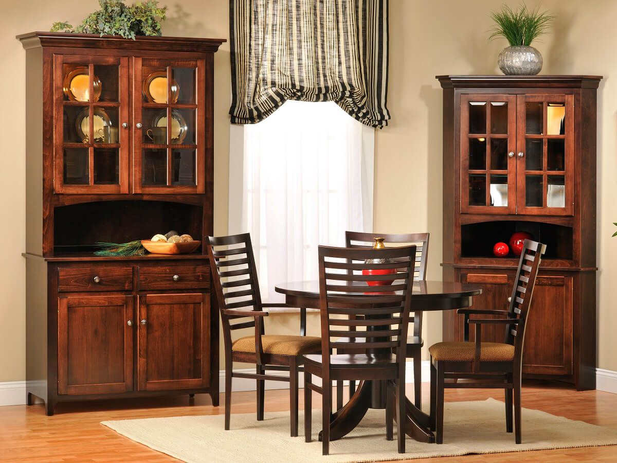 elisee shaker 2 door china hutch countryside amish furniture elisee shaker amish dining collection