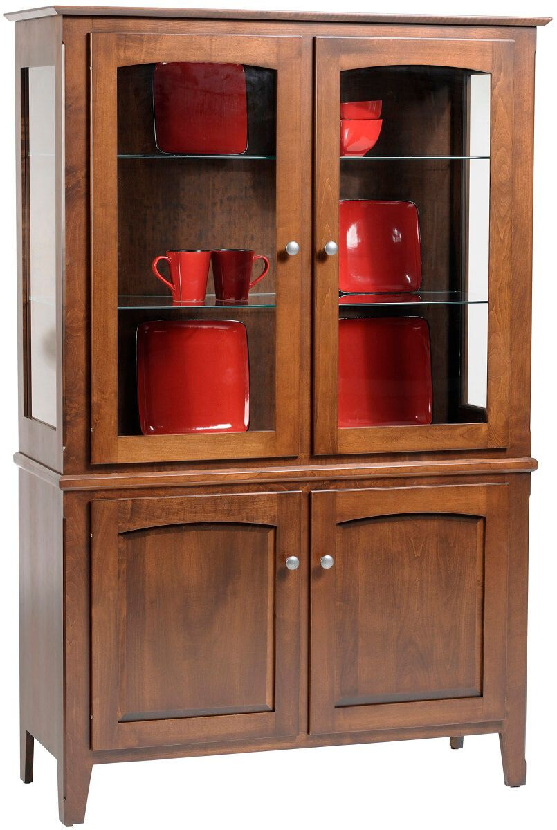 Emily's Casual Gallery Hutch in Brown Maple