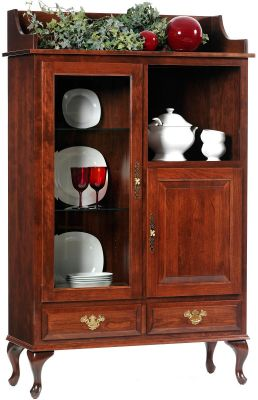 Evendale Court Display Case in Cherry