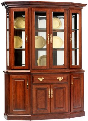 Evendale Court Canted China Hutch in Cherry
