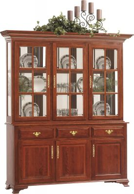 Evendale Court China Hutch in Cherry