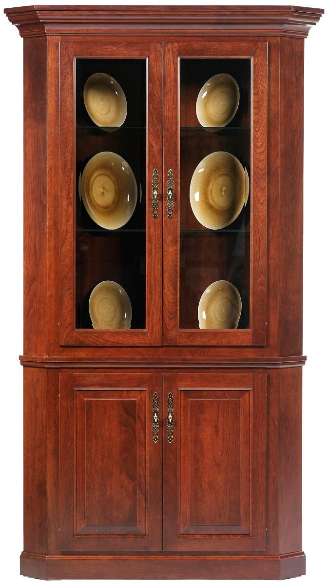 Evendale Court Corner Hutch in Cherry