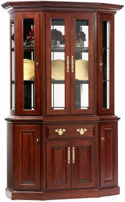 Evendale Court Petite Canted Hutch in Cherry