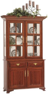 Evendale Court Petite China Hutch in Cherry
