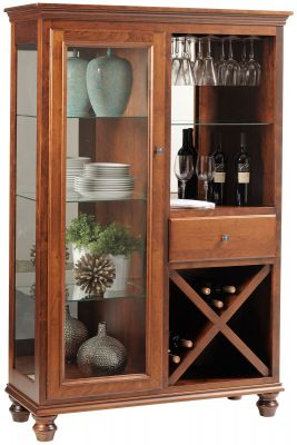 Liberty Park Wine and Stemware Storage in Cherry