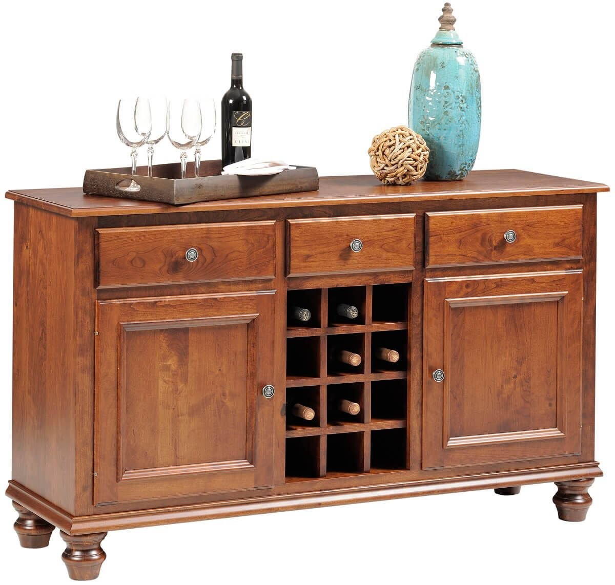 Liberty Park Wine Cabinet in Cherry