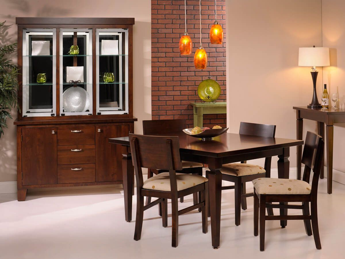 Modern hardwood dining collection