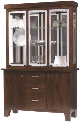 Seguso 3-Door Modern Hutch