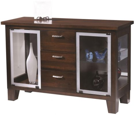 Seguso Modern Server in Brown Maple