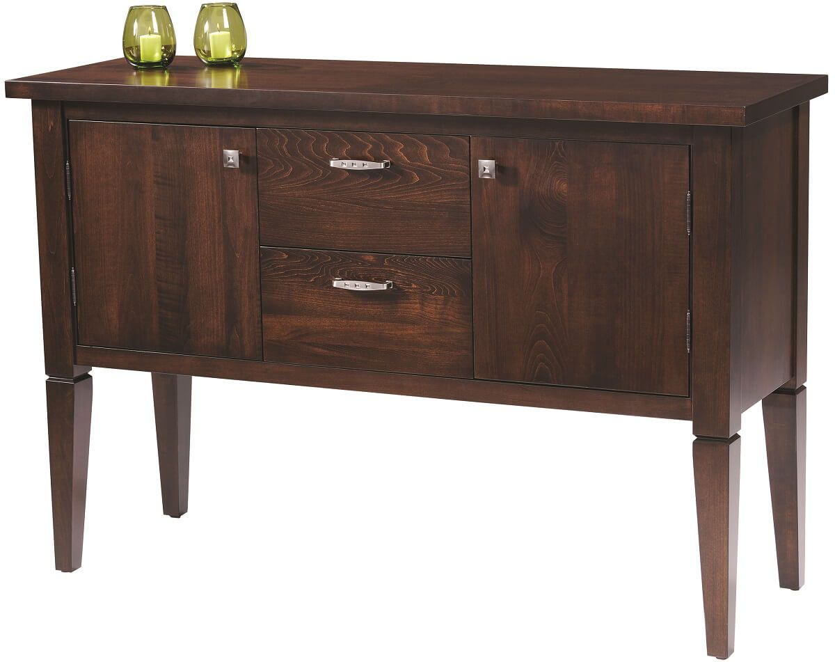 Seguso Modern Sideboard in Brown Maple
