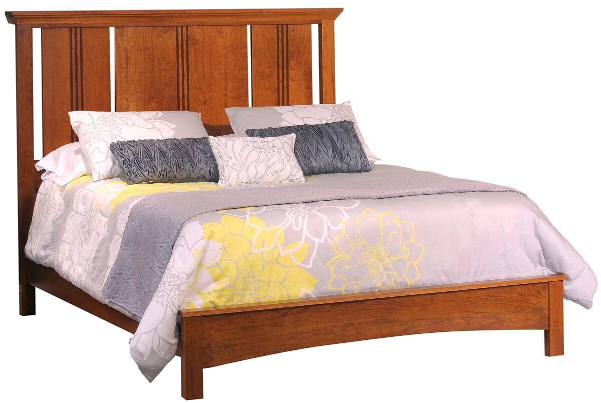 Senoia Amish Wood Panel Bed