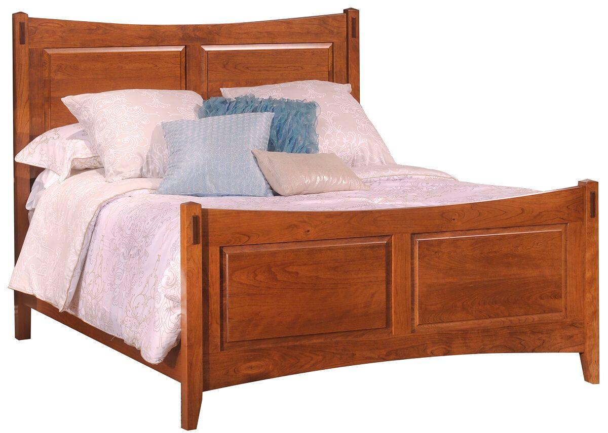 Senoia Amish Wooden Panel Bed