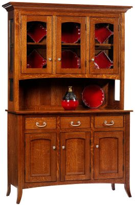 South Hooksett Buffet with Hutch with open display