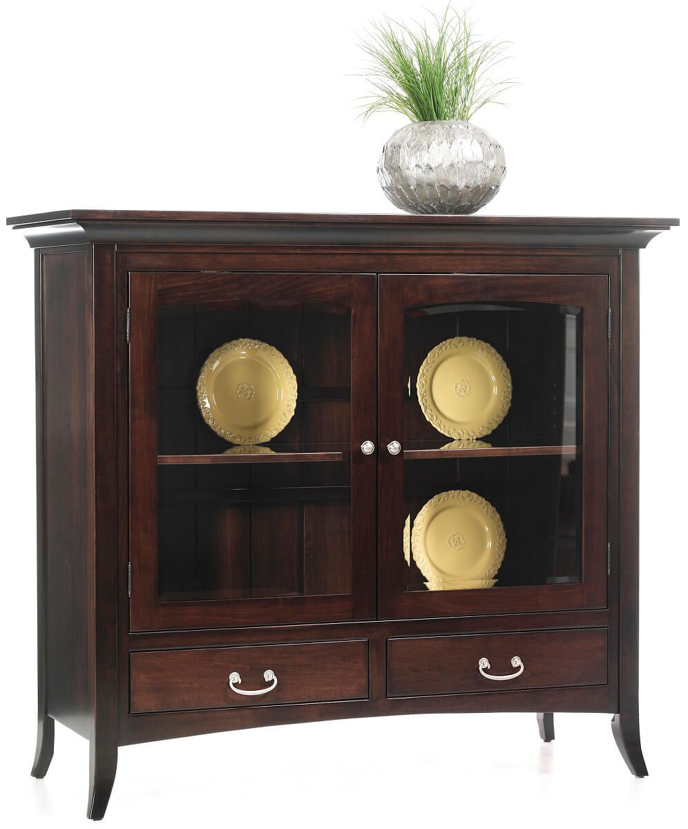 South Hooksett China Pantry in Brown Maple