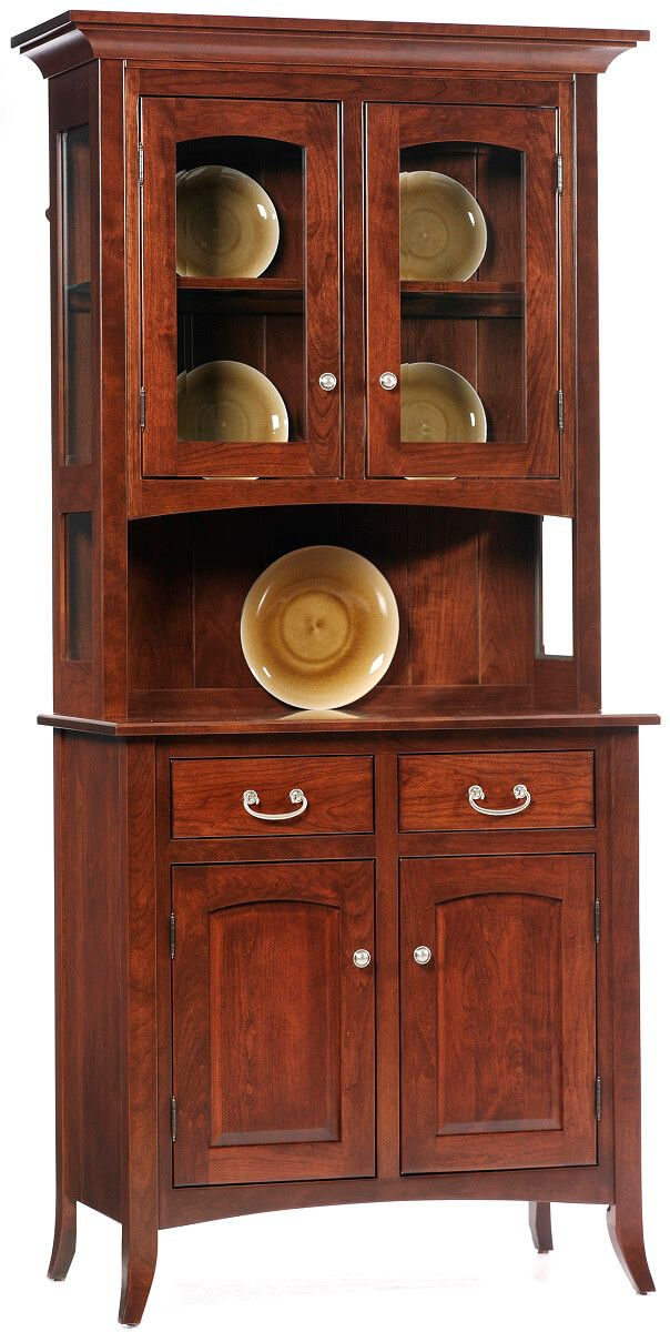 South Hooksett Small China Cabinet in Cherry