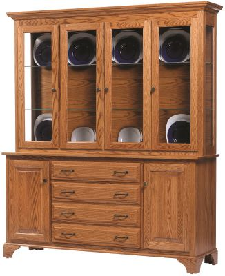 Westland China Display Case in Oak