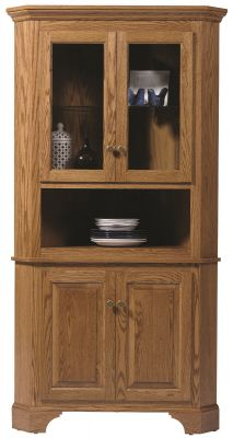 Westland Corner China Hutch in Oak