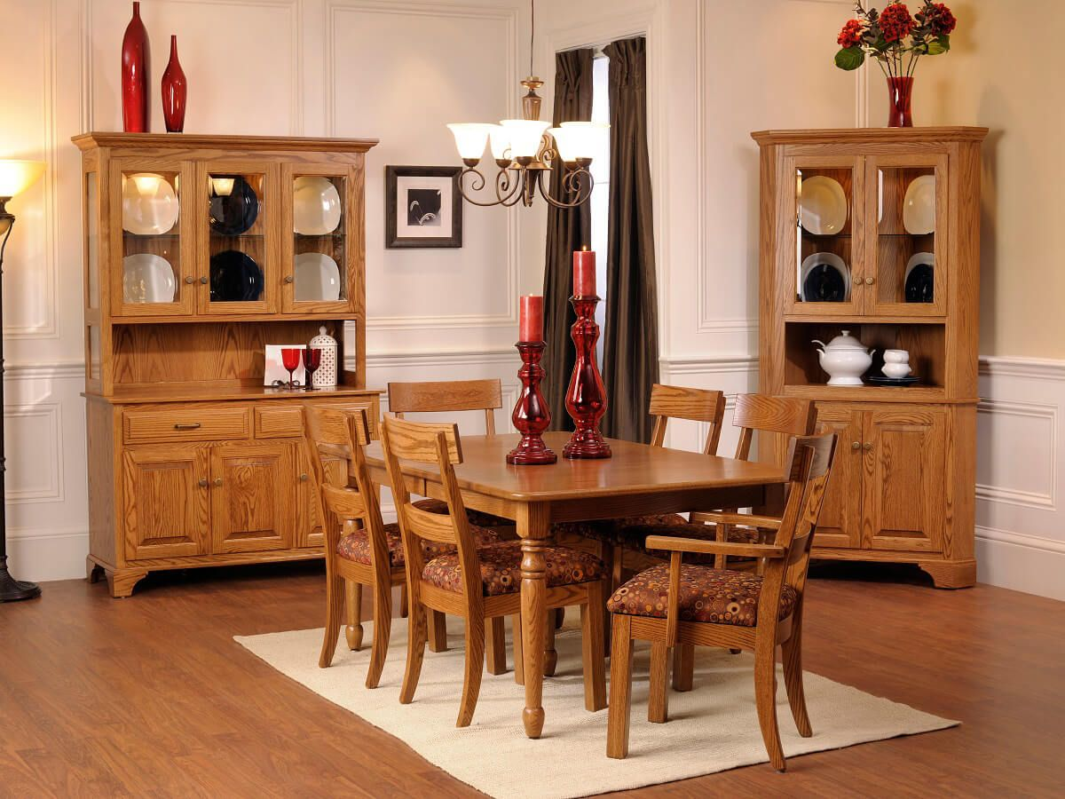 Oak Amish dining collection
