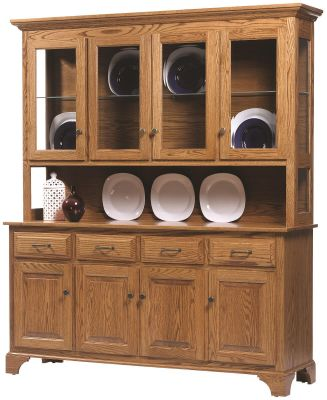 Amish Westland Large Sideboard with Hutch
