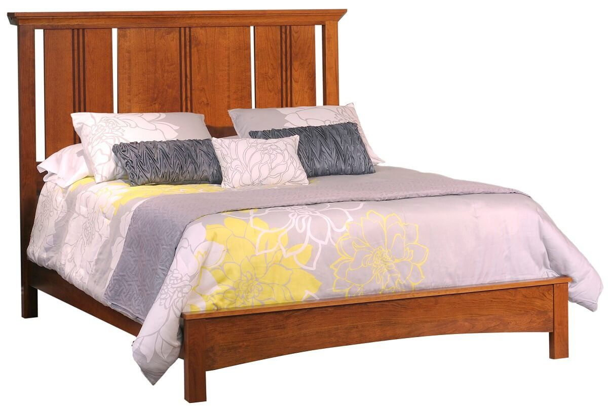 Senoia Amish Wood Panel Bed