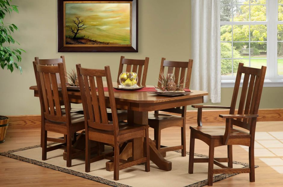 dining room furniture san antonio | San Antonio Butterfly Leaf Table Set - Countryside Amish ...