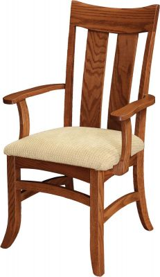 Shaker Arm Chair with Fabric Seat