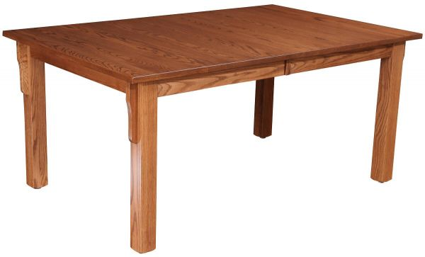 Oak Mission Leg Table