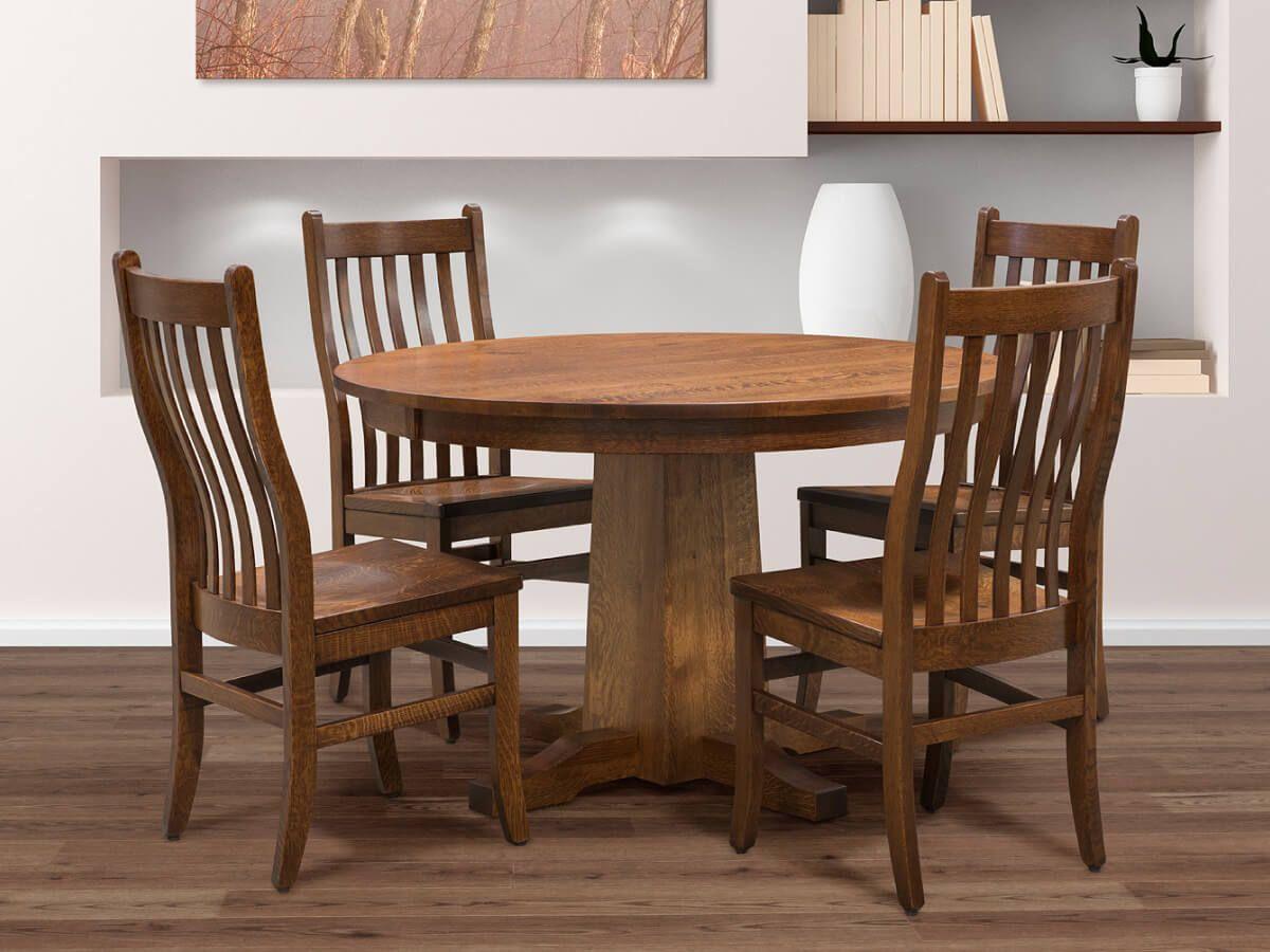 Paleno Pedestal Table Set