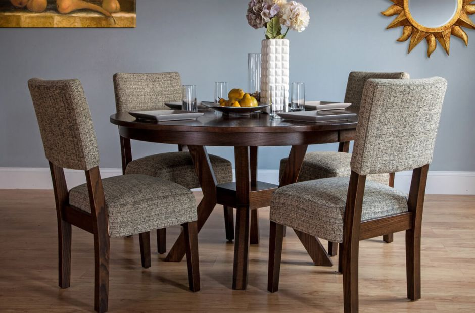 Regis Round Dining Table Set Countryside Amish Furniture