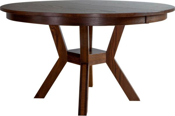 Regis Round Pedestal Kitchen Table - Countryside Amish Furniture