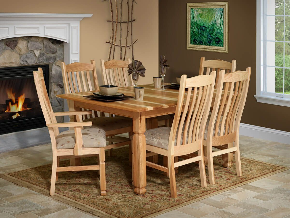 Sanibel Amish Hickory Dining Table - Countryside Amish ...