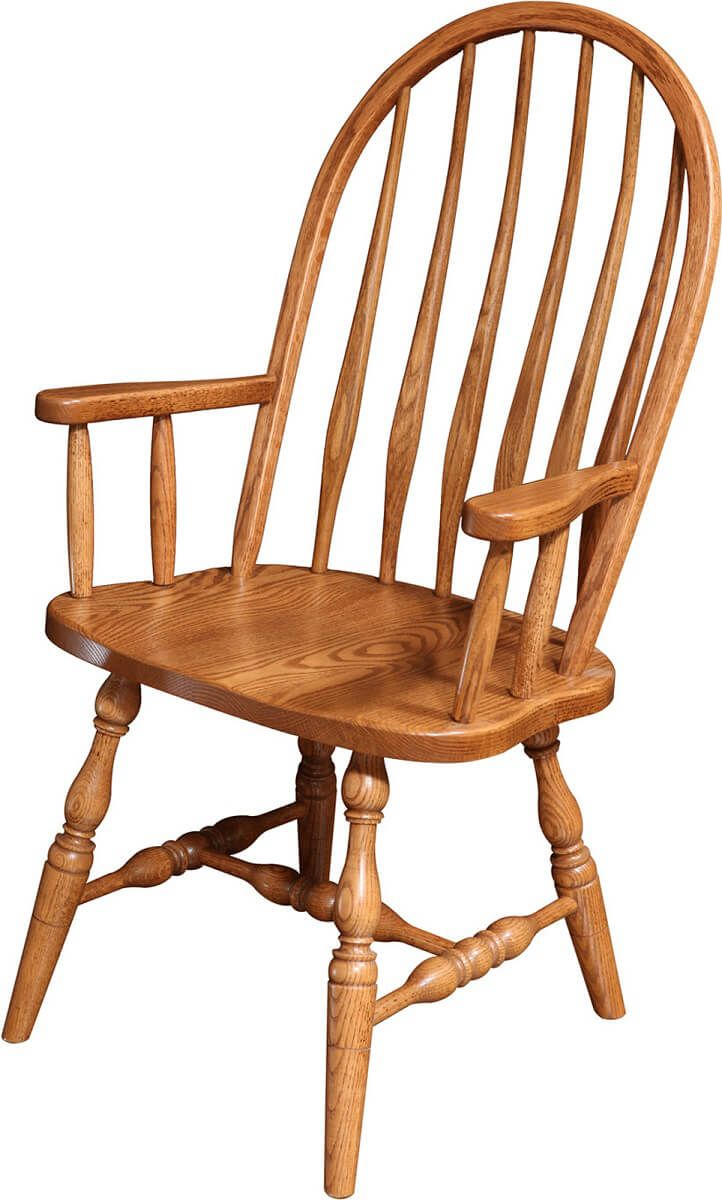 High Bent Feather Arm Chair