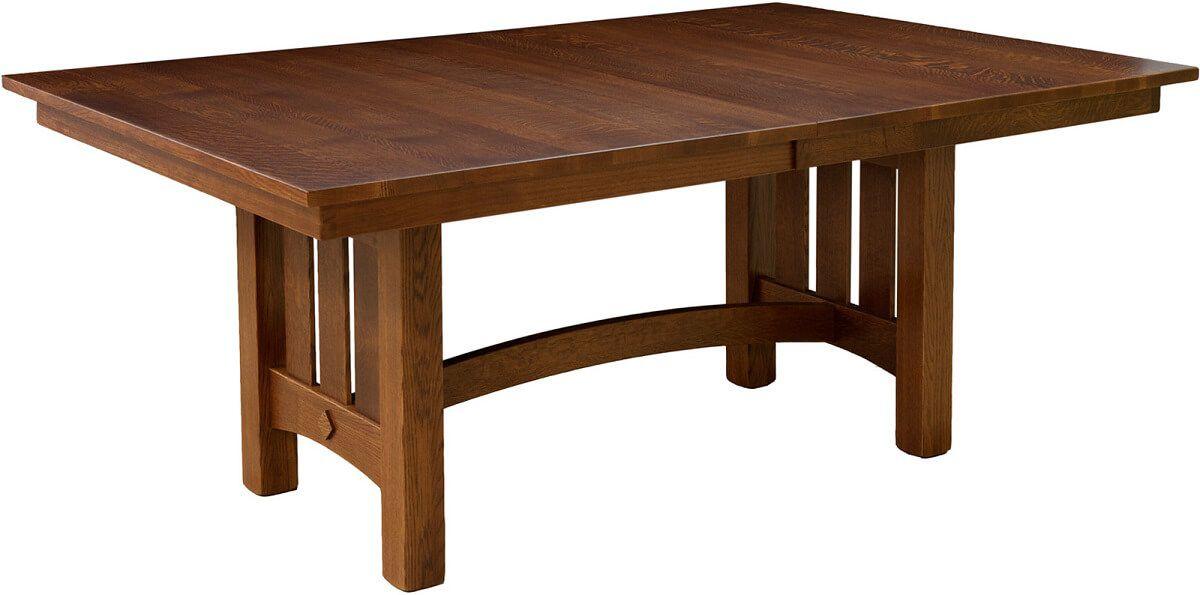 Wood Canyons Trestle Table