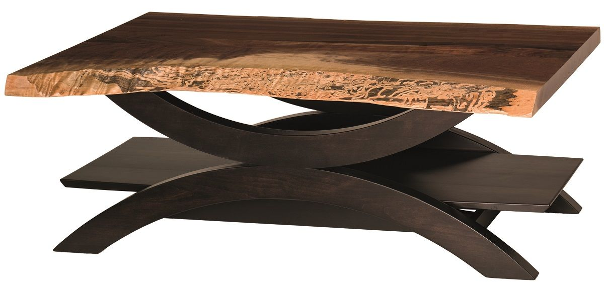 Picture of: Echo Live Edge Coffee Table Countryside Amish Furniture