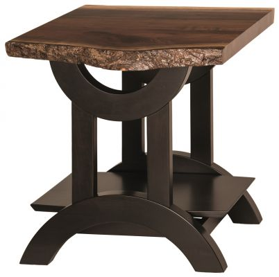 Echo Live Edge Walnut End Table