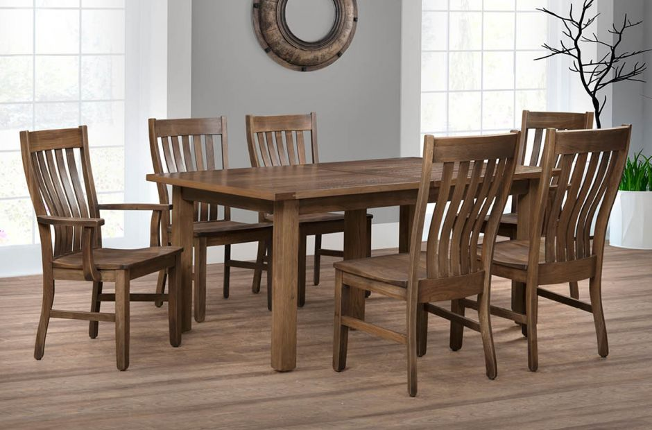 Saginaw Rustic Dining Set image 1