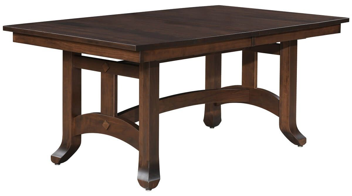 Brown Maple Trestle Table