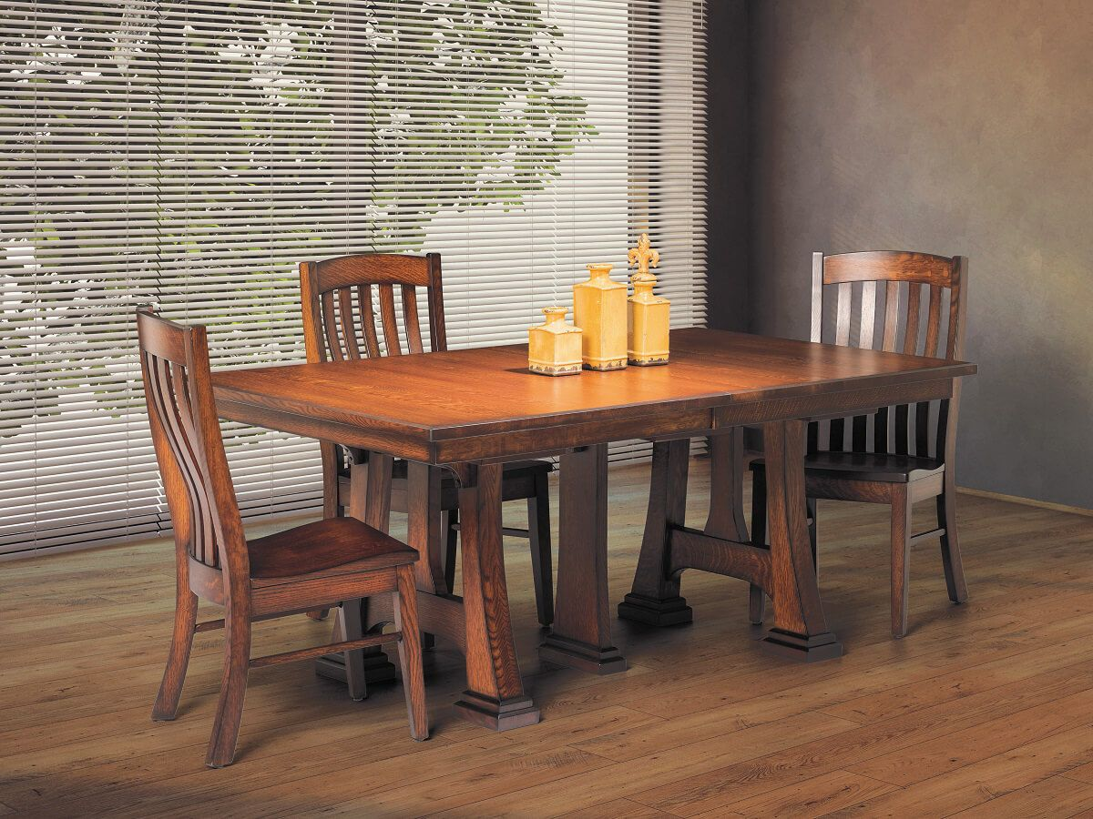 Castaneda Trestle Table with Leaves - Countryside Amish ...