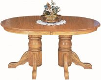 King's Peak Double Pedestal Table