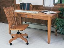 Letha Solid Wood Library Table