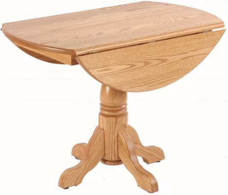 Single Pedestal Tables Drop Leaf Image Description